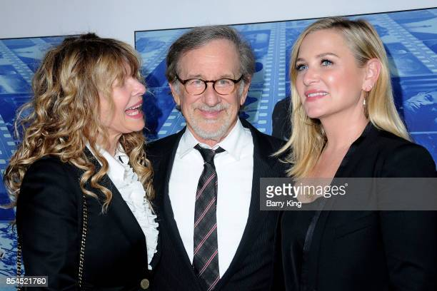 Actress Kate Capshaw husband director Steven Spielberg and daughter actress Jessica Capshaw attend the premiere of HBO's 'Spielberg' at Paramount...
