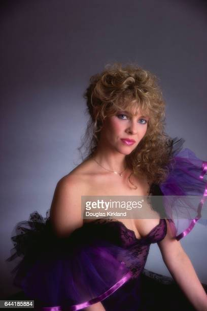Actress Kate Capshaw in Purple Dress