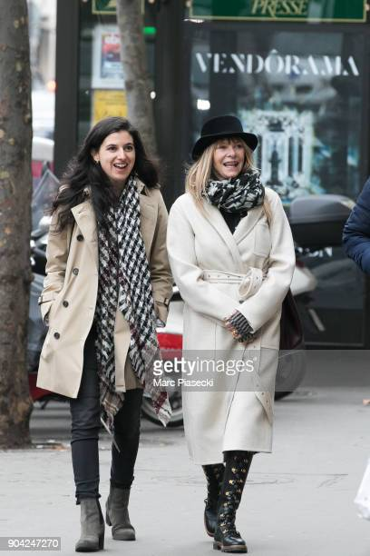 Actress Kate Capshaw is seen on Rue Royale on January 12 2018 in Paris France