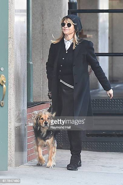 Actress Kate Capshaw is seen walking in Soho on October 24 2016 in New York City