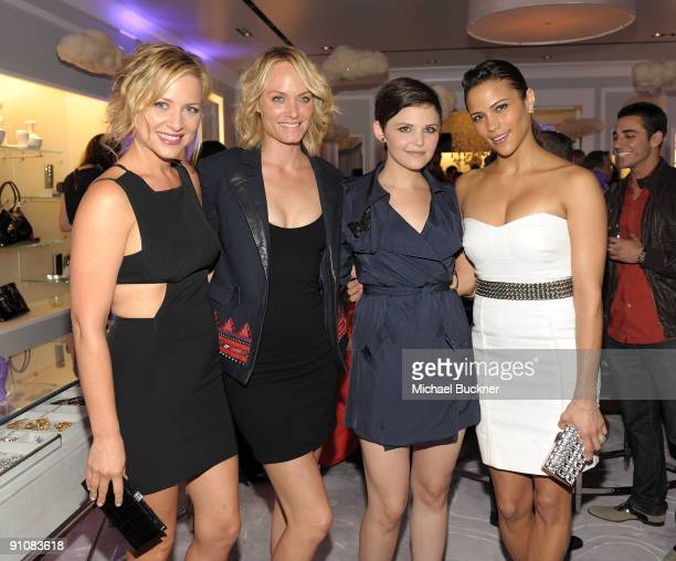 Actress Kate Capshaw model Amber Valletta actress Ginnifer Goodwin and actress Paula Patton arrives at the Judith Leiber Boutique Opening on Rodeo...
