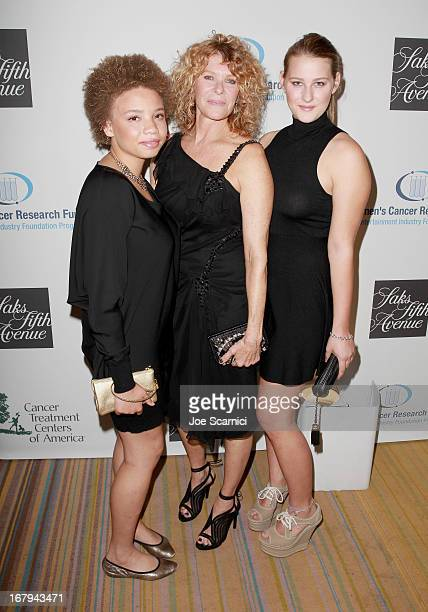 Actress Kate Capshaw wearing Carolina Herrera and daughters Mikaela George Spielberg and Destry Allyn Spielberg attend EIF Women's Cancer Research...
