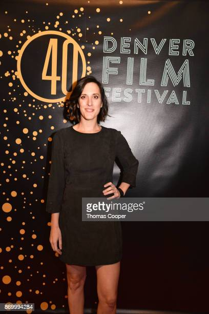 Actress Kate Cook in the film The Outsider on the red carpet at the 40th annual Denver Film Festival on November 3 2017 in Denver Colorado