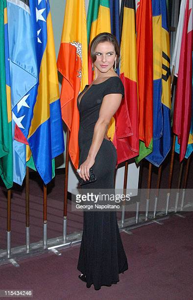 Actress Kate Del Castillo arrives at the Trade Premiere at The United Nations on September 19 2007