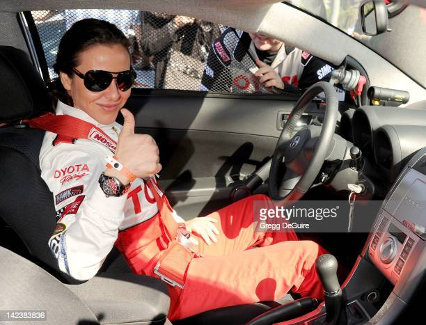 Actress Kate del Castillo at the 36th Annual 2012 Toyota Pro/Celebrity Race Press Practice Day on April 3 2012 in Long Beach California