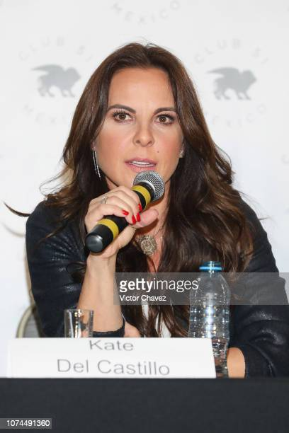 Actress Kate del Castillo attends a press conference at Club 51 on December 20 2018 in Mexico City Mexico