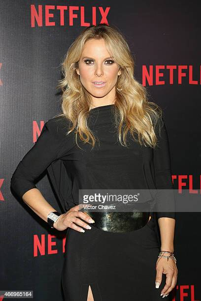 Actress Kate del Castillo attends the NetFlix Award 2015 at Museo Jumex on March 19 2015 in Mexico City Mexico