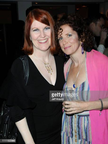 "Actress Kate Flannery and actress Amy Stiller attend the after party for the premiere of ""Greenberg"" presented by Focus Features at La Vida on March..."