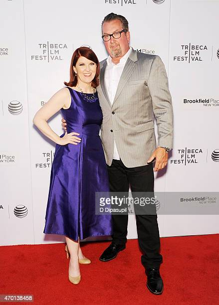 Actress Kate Flannery and Chris Haston attend the premiere of 'Tenured' during the 2015 Tribeca Film Festival at Regal Battery Park 11 on April 17...