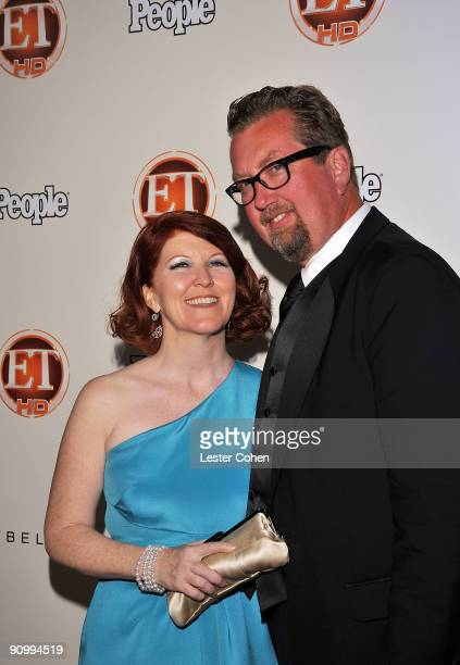 Actress Kate Flannery and photographer Chris Haston arrive at the 13th Annual Entertainment Tonight and People Magazine Emmys After Party at the...