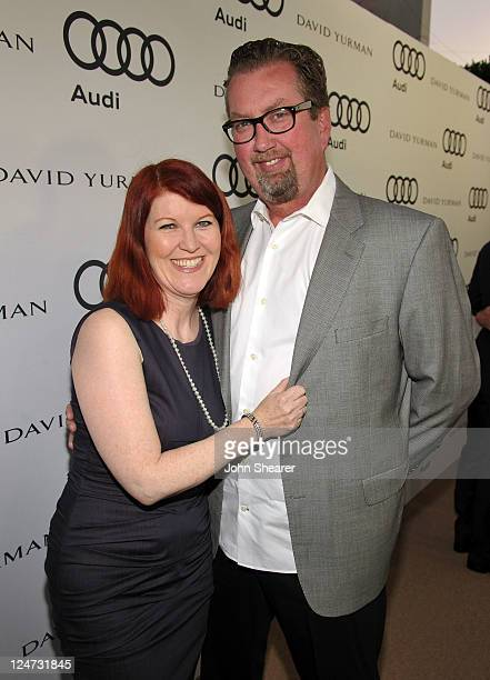 Actress Kate Flannery and photographer Chris Haston attend Audi and David Yurman Kick Off Emmy Week 2011 and Support Tuesday's Children at Cecconi's...