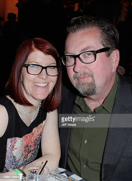 Actress Kate Flannery and photographer Chris Haston attend Hilarity For Charity To Benefit The Alzheimer's Association at Vibiana on January 13 2012...