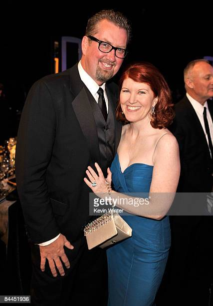 Actress Kate Flannery and photographer Chris Haston attend the 15th Annual Screen Actors Guild Awards cocktail party held at the Shrine Auditorium on...