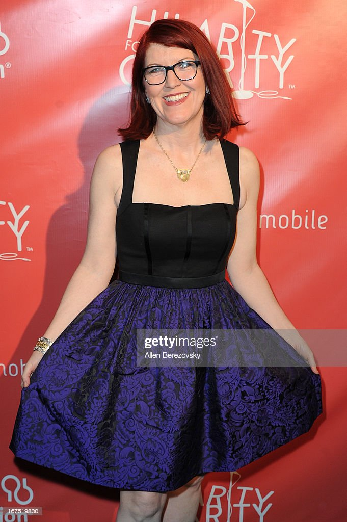 Actress Kate Flannery arrives at Hilarity For Charity fundraiser benefiting The Alzheimer's Association at Avalon on April 25, 2013 in Hollywood, California.