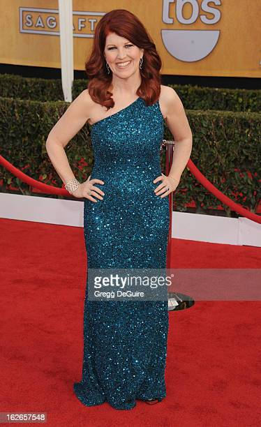 Actress Kate Flannery arrives at the 19th Annual Screen Actors Guild Awards at The Shrine Auditorium on January 27 2013 in Los Angeles California