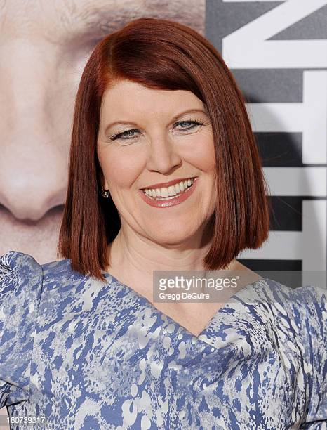 """Actress Kate Flannery arrives at the """"Identity Thief"""" Los Angeles premiere at Mann Village Theatre on February 4, 2013 in Westwood, California."""