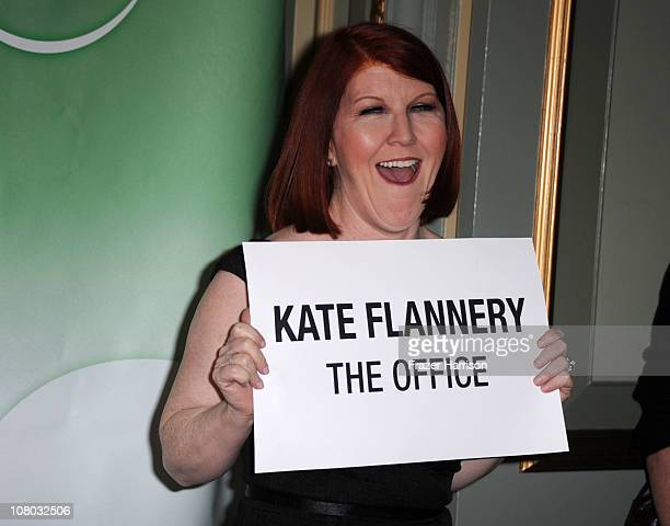 Actress Kate Flannery arrives at the NBC Universal 2011 Winter TCA Press Tour All-Star Party at the Langham Huntington Hotel on January 13, 2011 in...