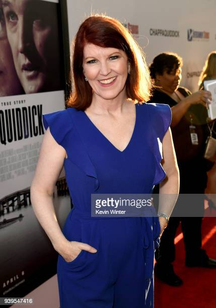 Actress Kate Flannery arrives at the premiere of Entertainment Studios Motion Picture's Chappaquiddick at the Samuel Goldwyn Theatre on March 28 2018...
