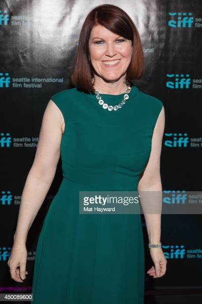 Actress Kate Flannery arrives at the premiere of the film 'Helicopter Mom' during the Seattle International Film Festival at the Egyptian Theater on...