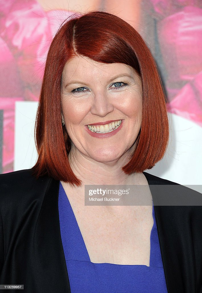 Actress Kate Flannery arrives at the Premiere of Universal Pictures' 'Bridesmaids' at the Mann Village Theatre on April 28, 2011 in Westwood, California.