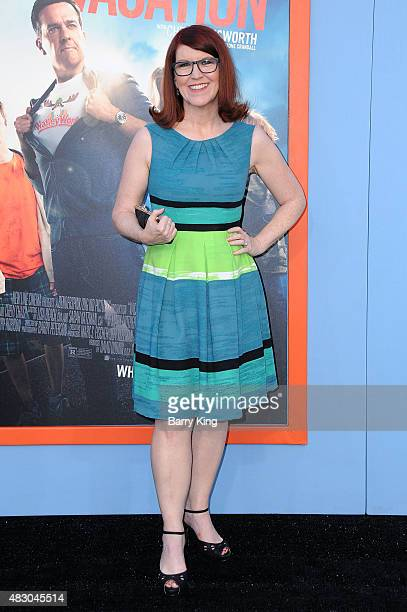Actress Kate Flannery arrives at the Premiere Of Warner Bros 'Vacation' at Regency Village Theatre on July 27 2015 in Westwood California