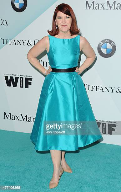 Actress Kate Flannery arrives at Women In Film 2015 Crystal Lucy Awards at the Hyatt Regency Century Plaza on June 16 2015 in Los Angeles California