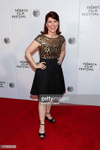 """Actress Kate Flannery arrives for the World Premiere Narrative: """"Slow Learners"""" during the 2015 Tribeca Film Festival held at Regal Battery Park 11..."""
