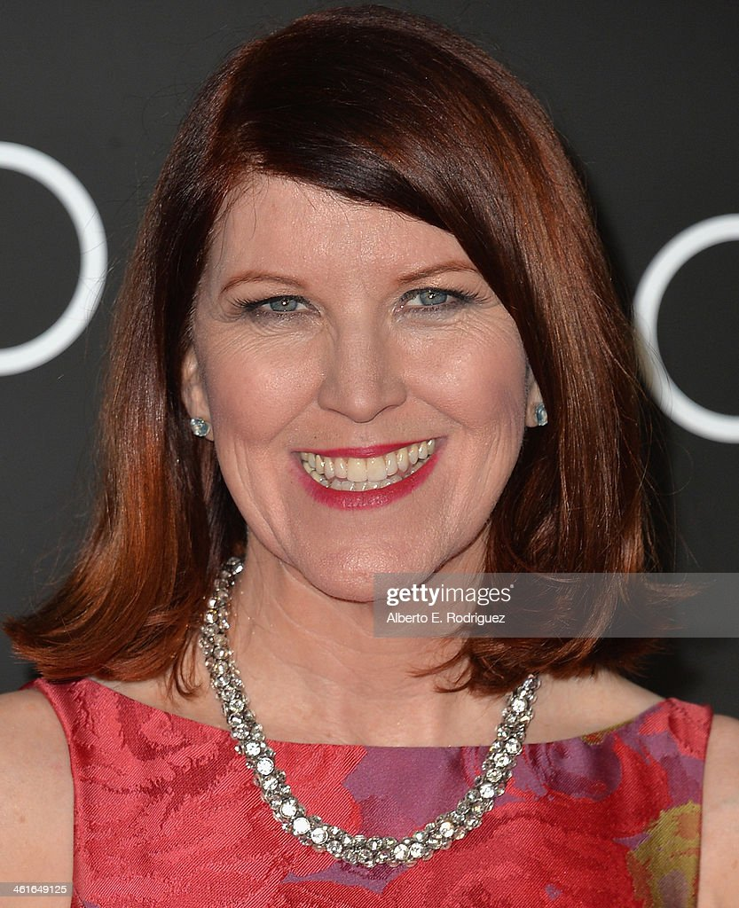 Actress Kate Flannery arrives to Audi Celebrates Golden Globes Weekend at Cecconi's Restaurant on January 9, 2014 in Los Angeles, California.