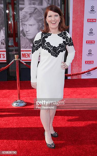 Actress Kate Flannery arriving at the TCM Classic Film Festival 2016 Opening Night Gala 40th Anniversary Screening Of All The President's Men at TCL...