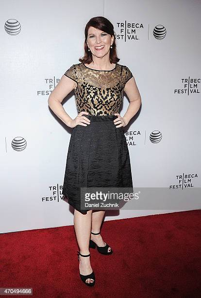 Actress Kate Flannery attends the 2015 Tribeca Film Festival World Premiere Narrative 'Slow Learners' at Regal Battery Park 11 on April 20 2015 in...