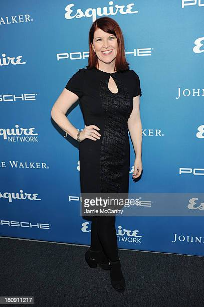 Actress Kate Flannery attends the Esquire 80th anniversary and Esquire Network launch celebration at Highline Stages on September 17, 2013 in New...