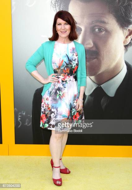 Actress Kate Flannery attends the Los Angeles Premiere Screening of National Geographics 'Genius' the Fox Theater on April 24 2017 in Los Angeles...
