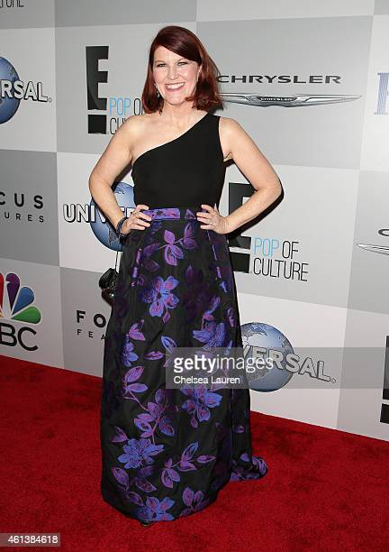 Actress Kate Flannery attends the NBCUniversal 2015 Golden Globe Awards Party sponsored by Chrysler at The Beverly Hilton Hotel on January 11 2015 in...