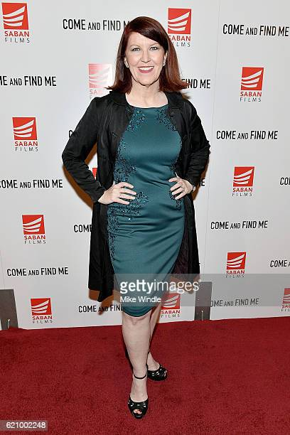 Actress Kate Flannery attends the premiere of Saban Films' 'Come And Find Me' at Pacific Theatre at The Grove on November 3 2016 in Los Angeles...