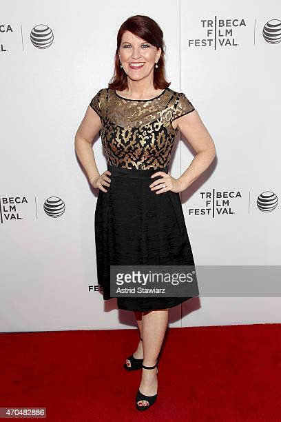 Actress Kate Flannery attends the premiere of 'Slow Learners' during the 2015 Tribeca Film Festival at Spring Studio on April 20 2015 in New York City