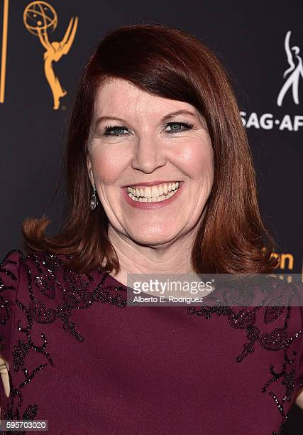 Actress Kate Flannery attends the Television Academy And SAGAFTRA's 4th Annual Dynamic and Diverse Celebration at The Saban Media Center on August 25...