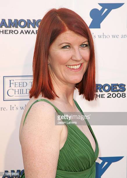Actress Kate Flannery attends the The 2008 Hero Awards at the Universal Hilton on June 6, 2008 in Universal City, California.