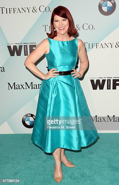 Actress Kate Flannery attends the Women in Film 2015 Crystal Lucy Awards at the Hyatt Regency Century Plaza Hotel on June 16 2015 in Los Angeles...