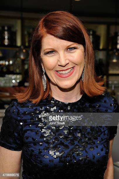 Actress Kate Flannery attends the Women In Film PreOscar Cocktail Party presented by PerrierJouet MAC Cosmetics MaxMara at Fig Olive Melrose Place on...
