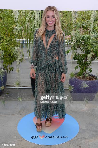 Actress Kate Greer attends the Official HM Loves Coachella Party at the Parker Palm Springs on April 10 2015 in Palm Springs California