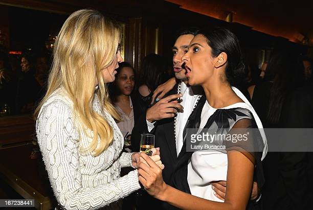 Actress Kate Hudson actor Riz Ahmed and guest attend the Reluctant Fundamentalist Pre Party during the 2013 Tribeca Film Festival on April 22 2013 in...