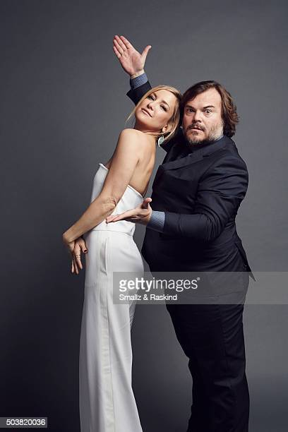 Actress Kate Hudson and actor Jack Black pose for a portrait at the 2016 People's Choice Awards at the Microsoft Theater on January 6 2016 in Los...