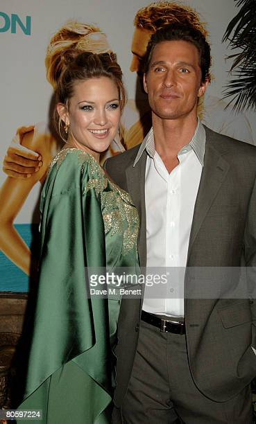 Actress Kate Hudson and actor Matthew McConaughey arrive at the UK Premiere of 'Fool's Gold' at the Vue Cinema on April 10 2008 in London England