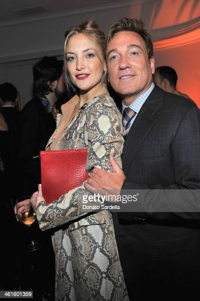 Actress Kate Hudson and CAA's Kevin Huvane attend the W Magazine celebration of The Best Performances Portfolio and The Golden Globes with Cadillac...