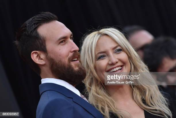 Actress Kate Hudson and Danny Fujikawa arrive at the premiere of 20th Century Fox's 'Snatched' at Regency Village Theatre on May 10 2017 in Westwood...