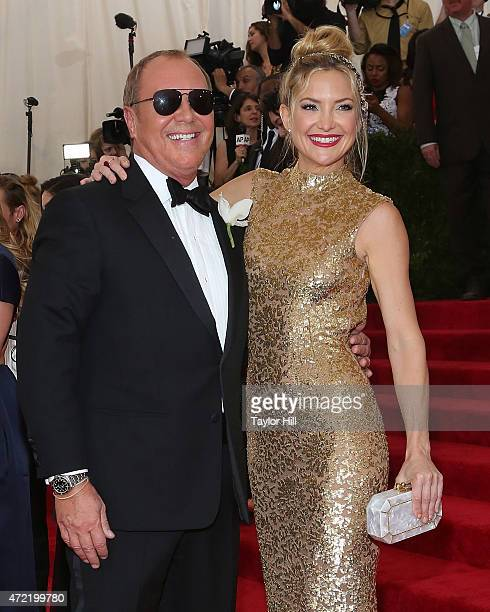 Actress Kate Hudson and designer Michael Kors attend China Through the Looking Glass the 2015 Costume Institute Gala at Metropolitan Museum of Art on...