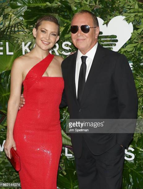 Actress Kate Hudson and designer Michael Kors attend the 11th Annual God's Love We Deliver Golden Heart Awards at Spring Studios on October 16 2017...