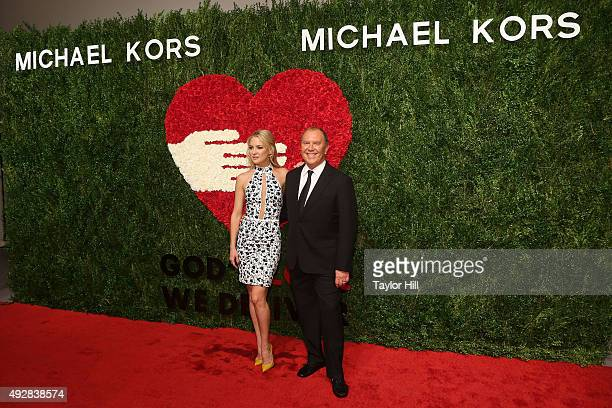 Actress Kate Hudson and designer Michael Kors attend the 2015 God's Love WE Deliver Golden Heart Awards at Spring Studios on October 15, 2015 in New...