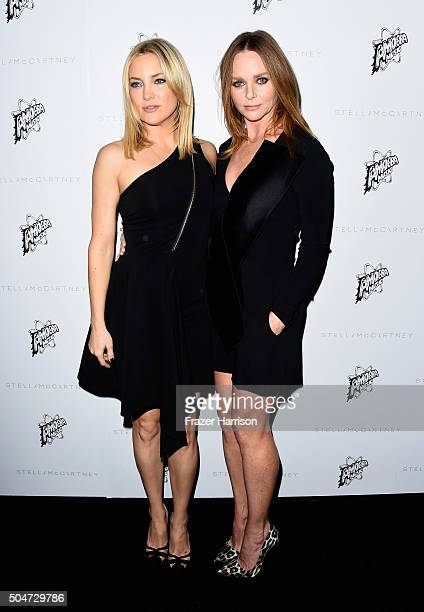 Actress Kate Hudson and designer Stella McCartney attend Stella McCartney Autumn 2016 Presentation at Amoeba Music on January 12 2016 in Los Angeles...
