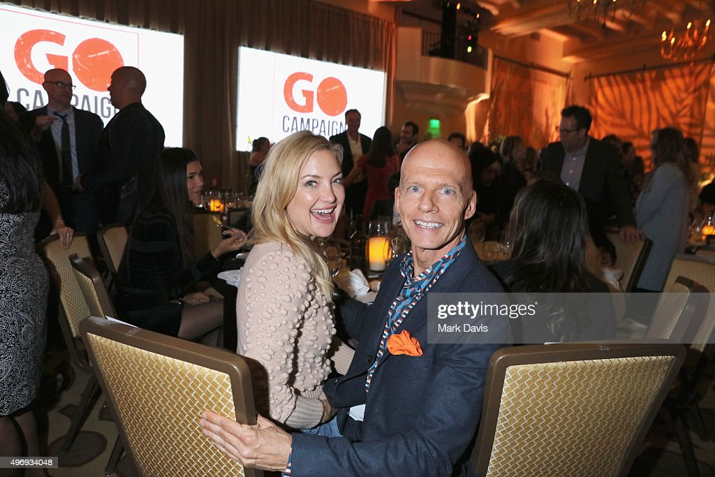 Actress Kate Hudson (L) and Founder and CEO of GO Campaign Scott Fifer attend the 8th Annual GO Campaign Gala at Montage Beverly Hills on November 12, 2015 in Beverly Hills, California.